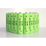 10-Pack NiMH AA 300mAh 1.2V Rechargeable Batteries