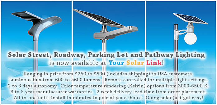 Solar Street and Parking Lot Lights